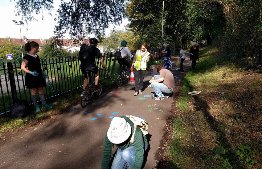 Which way for the Bristol to Bath Railway Path-
