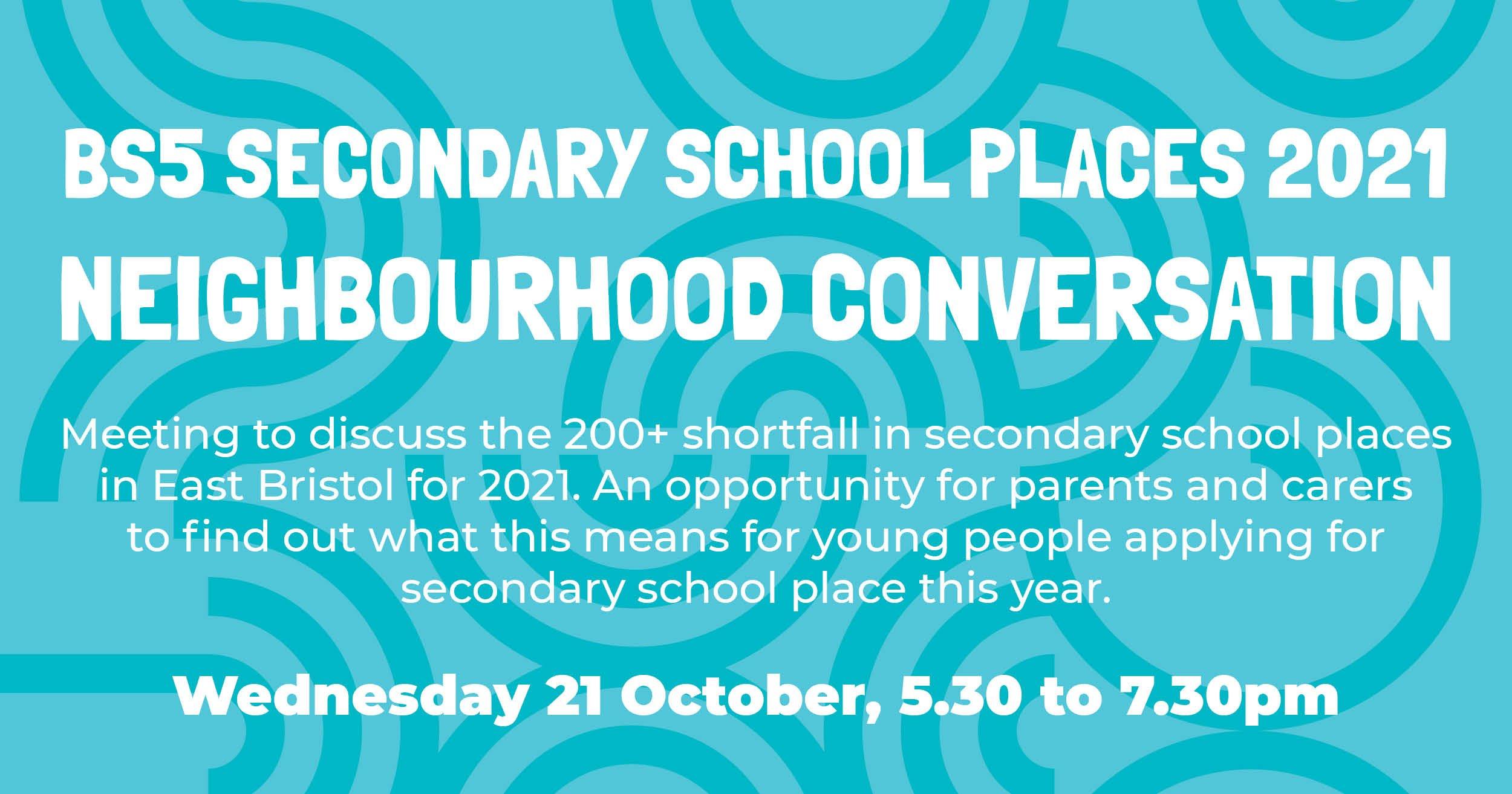 Neighbourhood convo Oct 2020