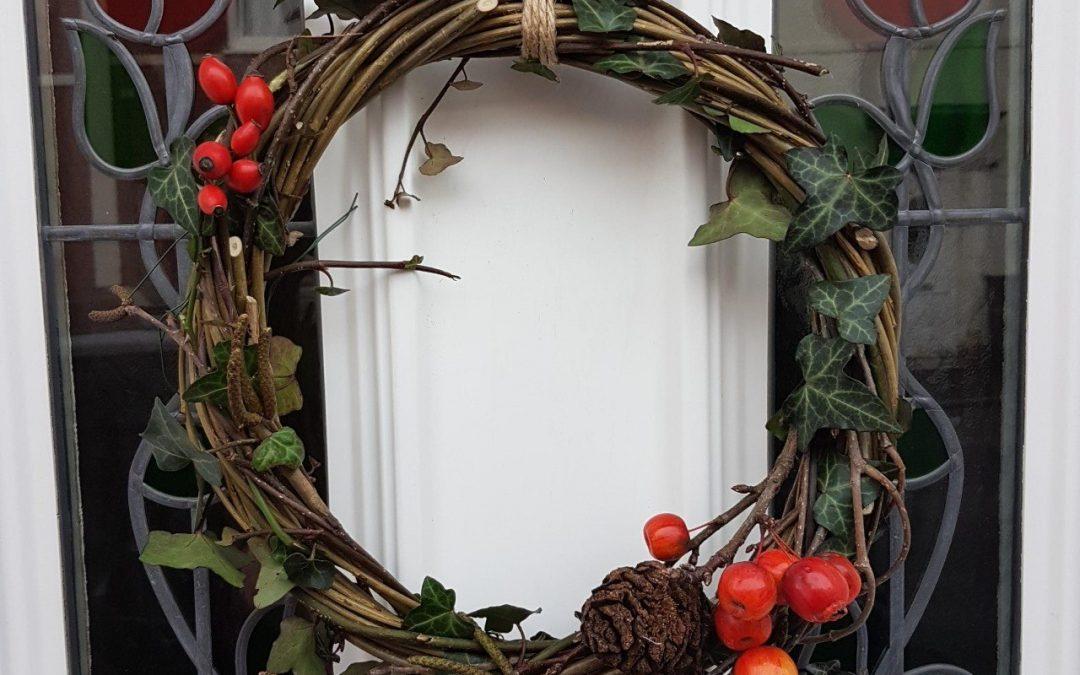 #LiftUpLockdown Winter wreath making